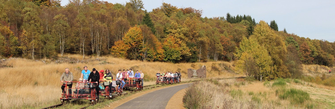 Railbike autumn activity